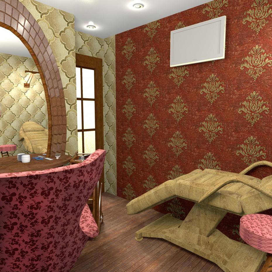 Кухня, переделанная под кабинет для парикмахера в Другое Other изображение