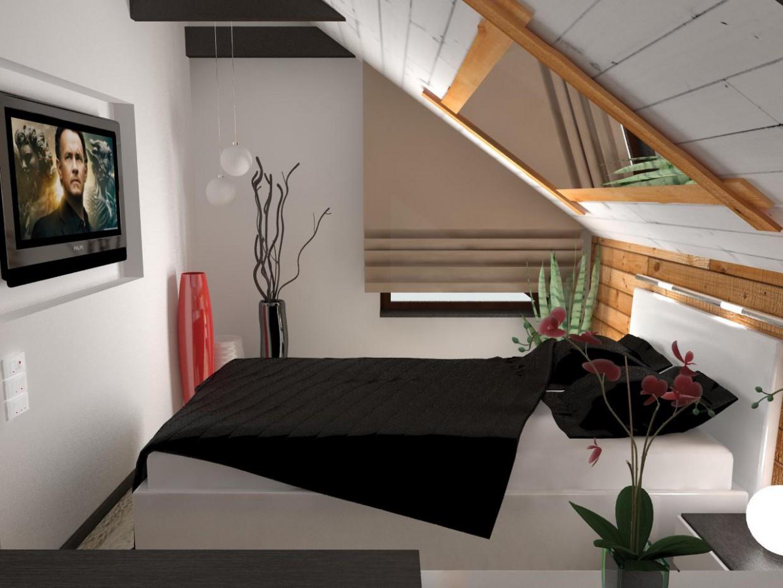 Дерев'яний 2-ух поверховий будинок в сучасному стилі в 3d max vray зображення