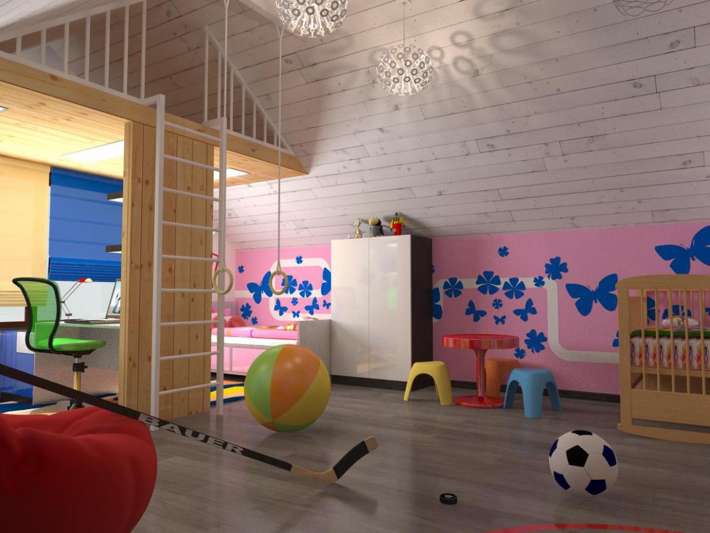 imagen de Moderna casa de 2 pisos madera en 3d max vray