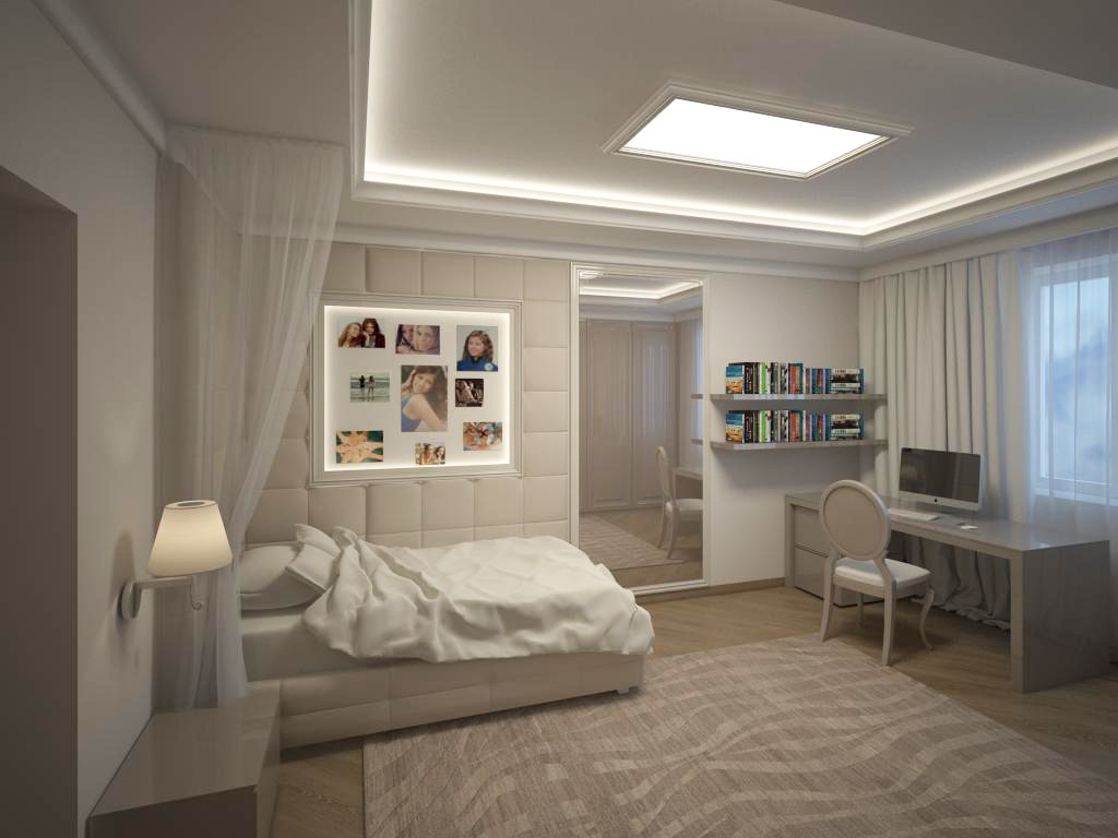 Room for ladies in 3d max vray image