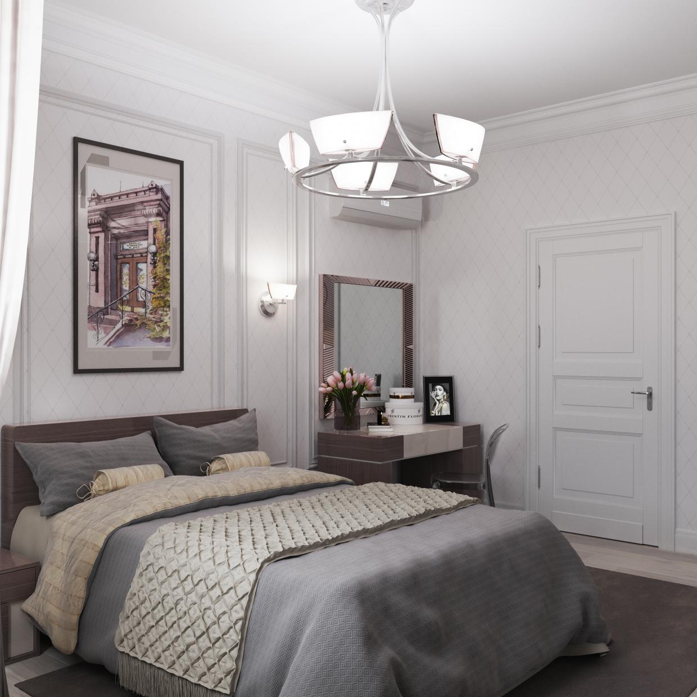 Bedroom. in 3d max corona render image