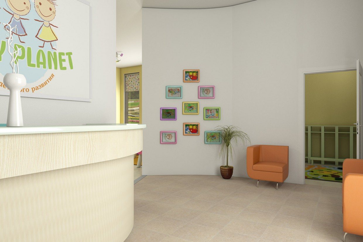 Child development center in 3d max vray image