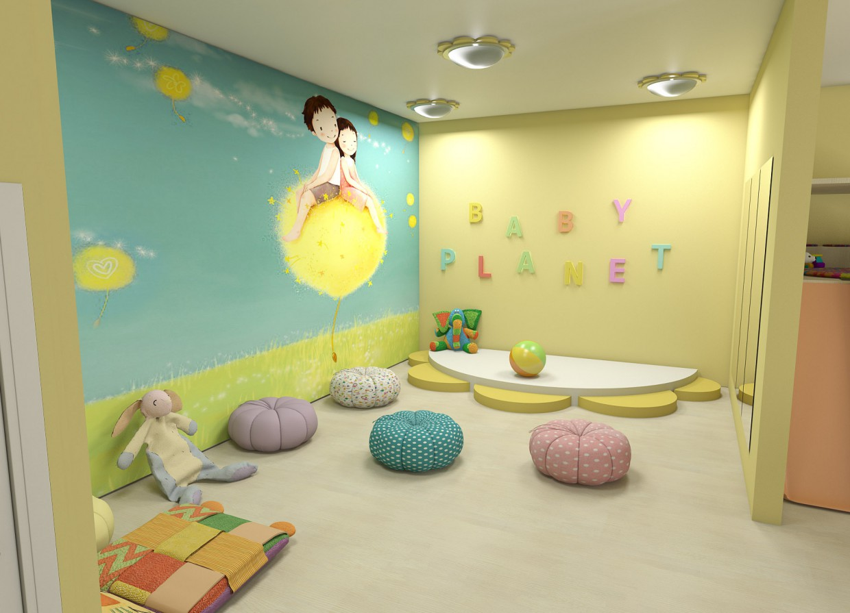 Child development center in 3d max vray image