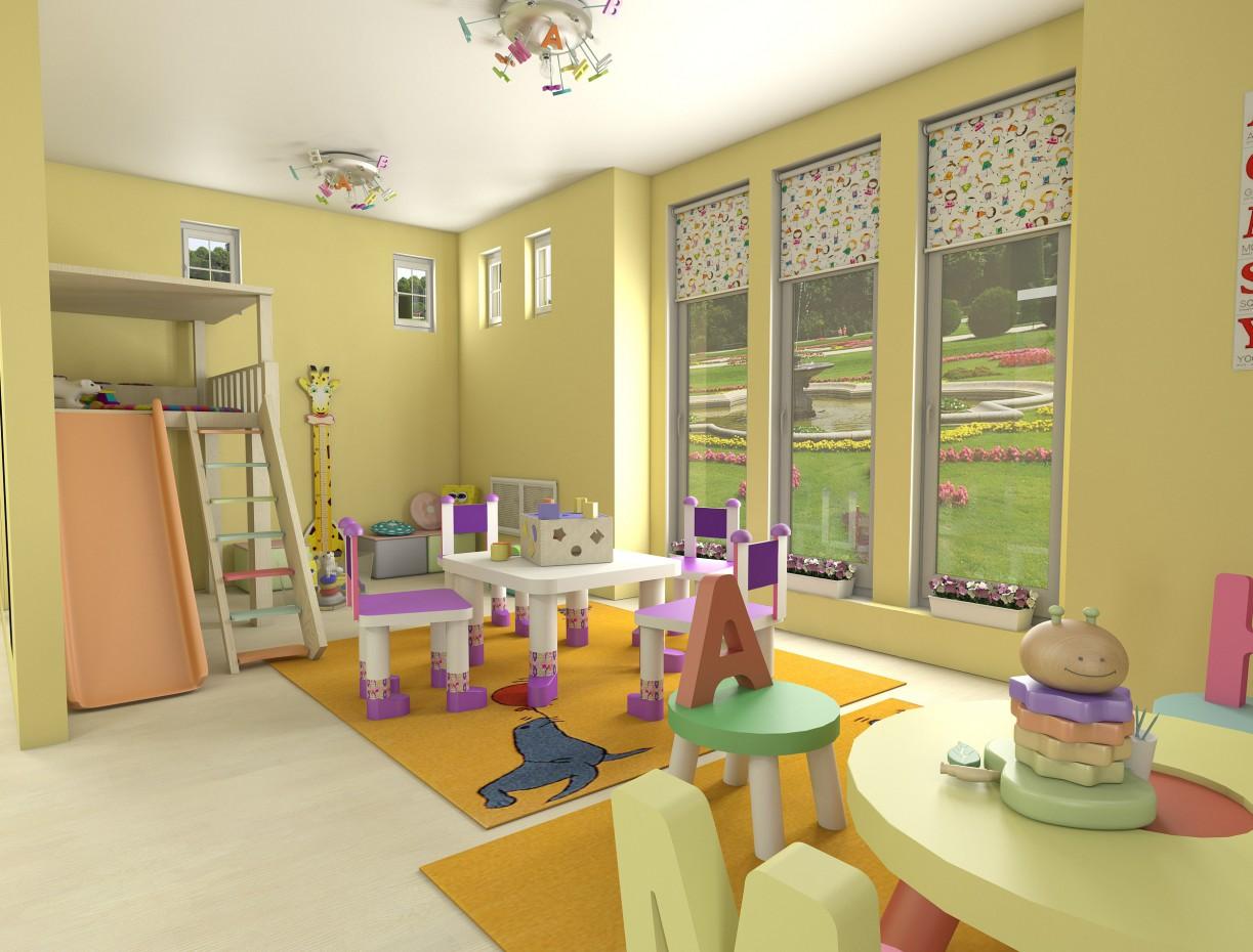 Центр детского развития в 3d max vray изображение