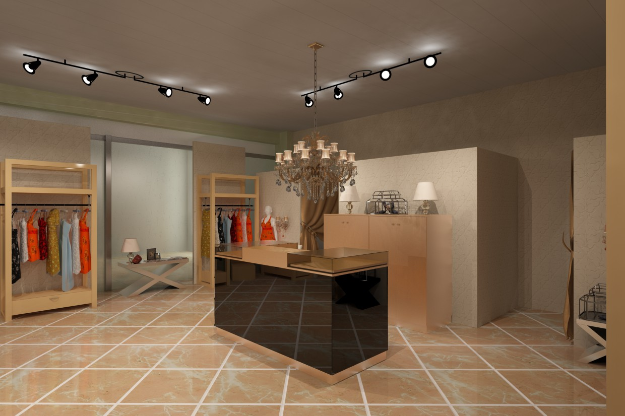 Boutique clothing in 3d max vray 2.5 image