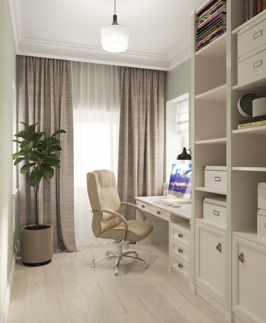 Office room in 3d max corona render image