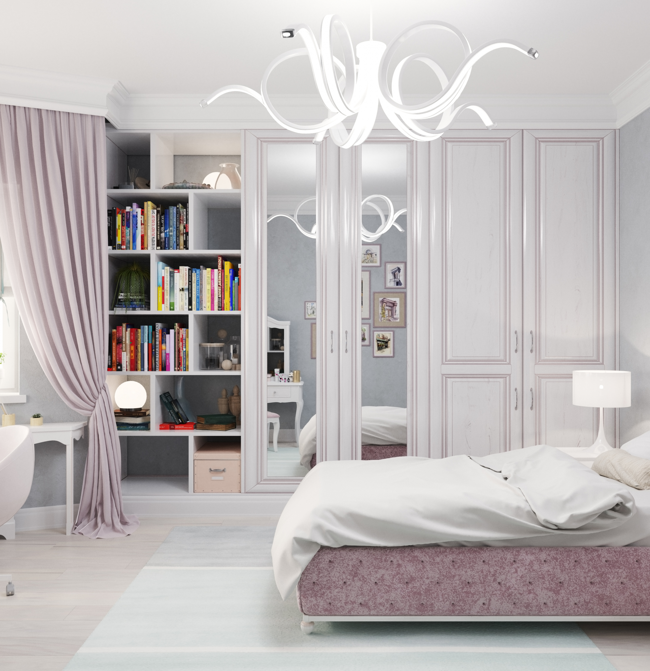 Bedroom. in 3d max corona render image