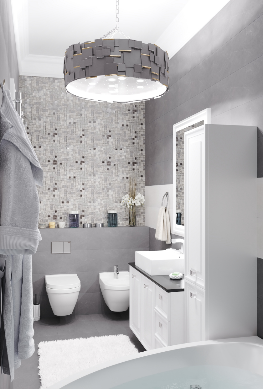Bathroom. in 3d max corona render image
