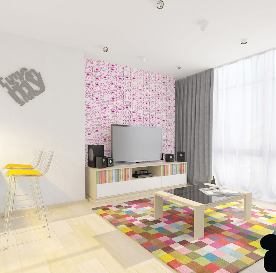 appartements du design «Rainbow» dans 3d max vray image