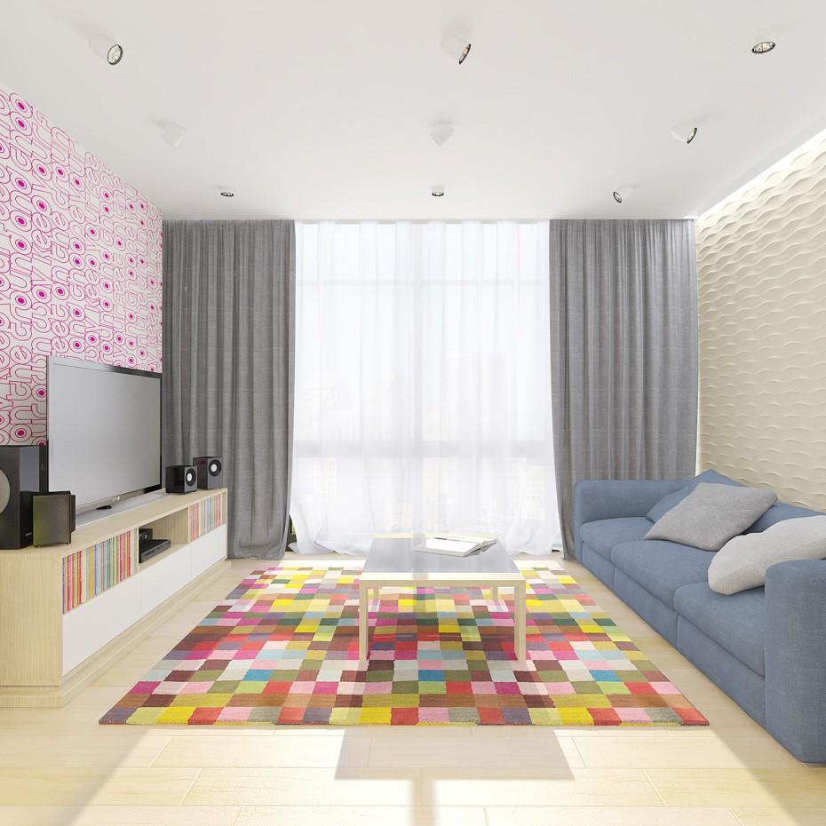 imagen de apartamentos de diseño «arco iris» en 3d max vray
