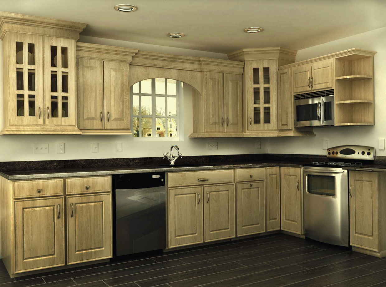 3d visualization of the project in the Kitchen from scratch)) 3d max, render vray of Жасмин