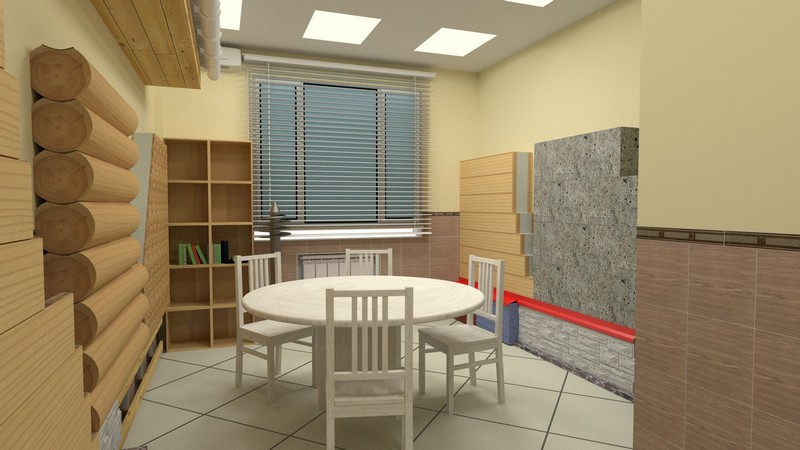 3d visualization of the project in the Meeting room Blender, render cycles render of Кильмухаметов