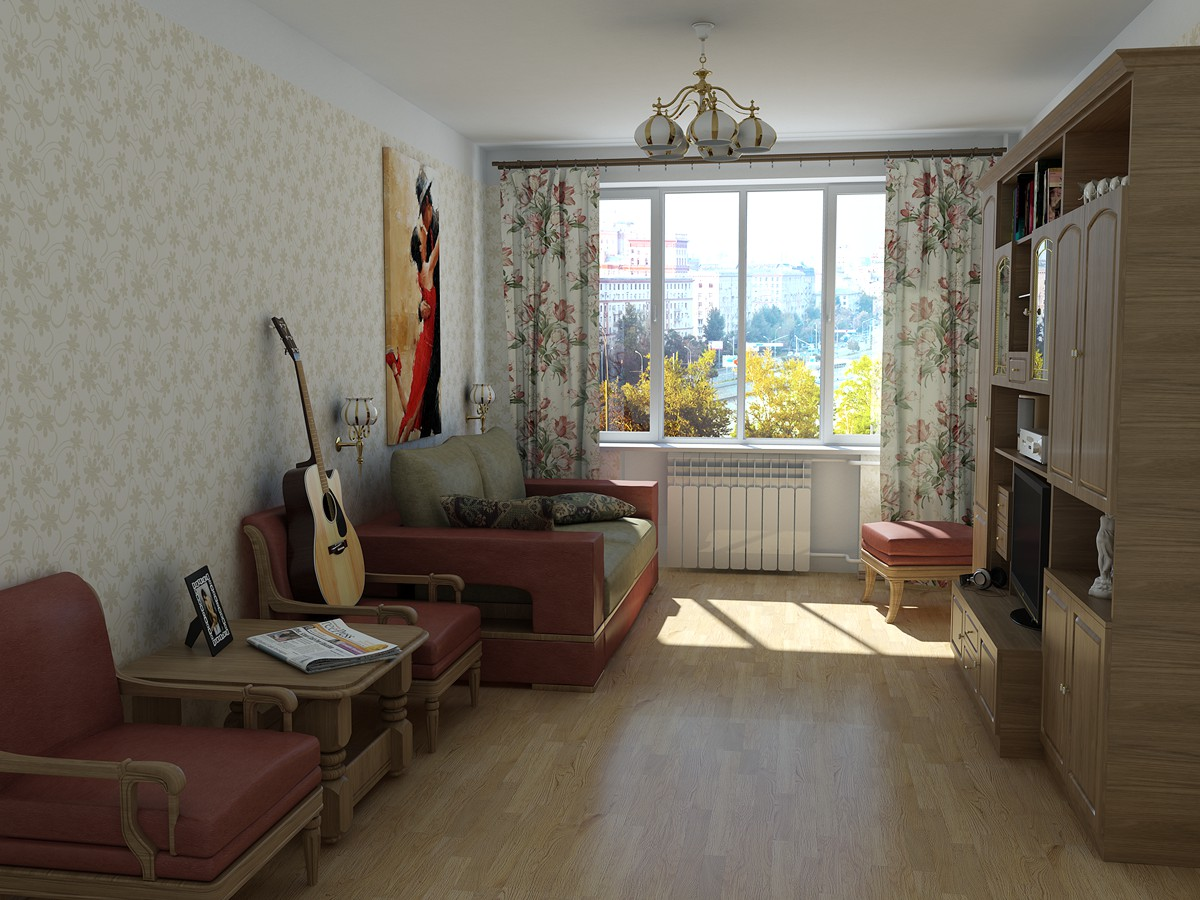 Small flat for romantic person in 3d max mental ray image
