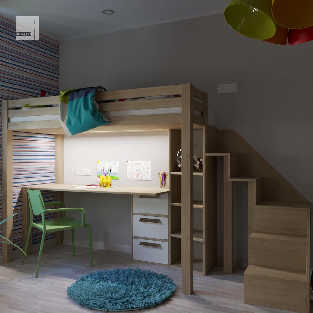 room for two children / room for two children in 3d max corona render image
