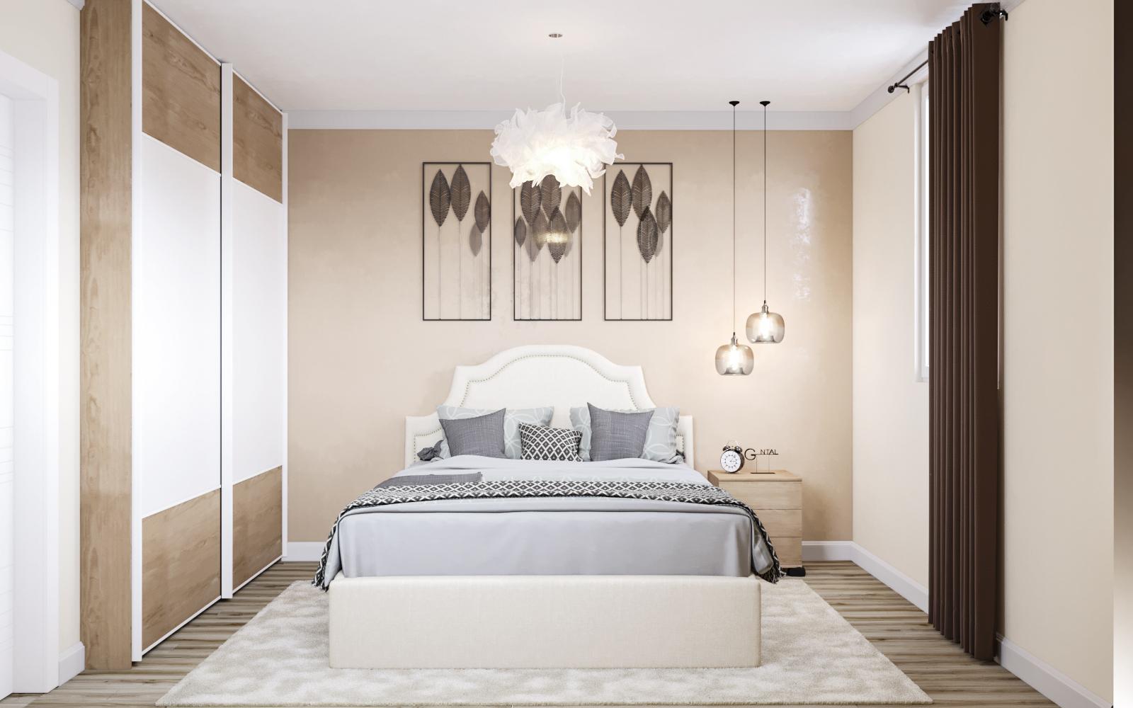 बेडरूम नंबर 2 3d max corona render में प्रस्तुत छवि