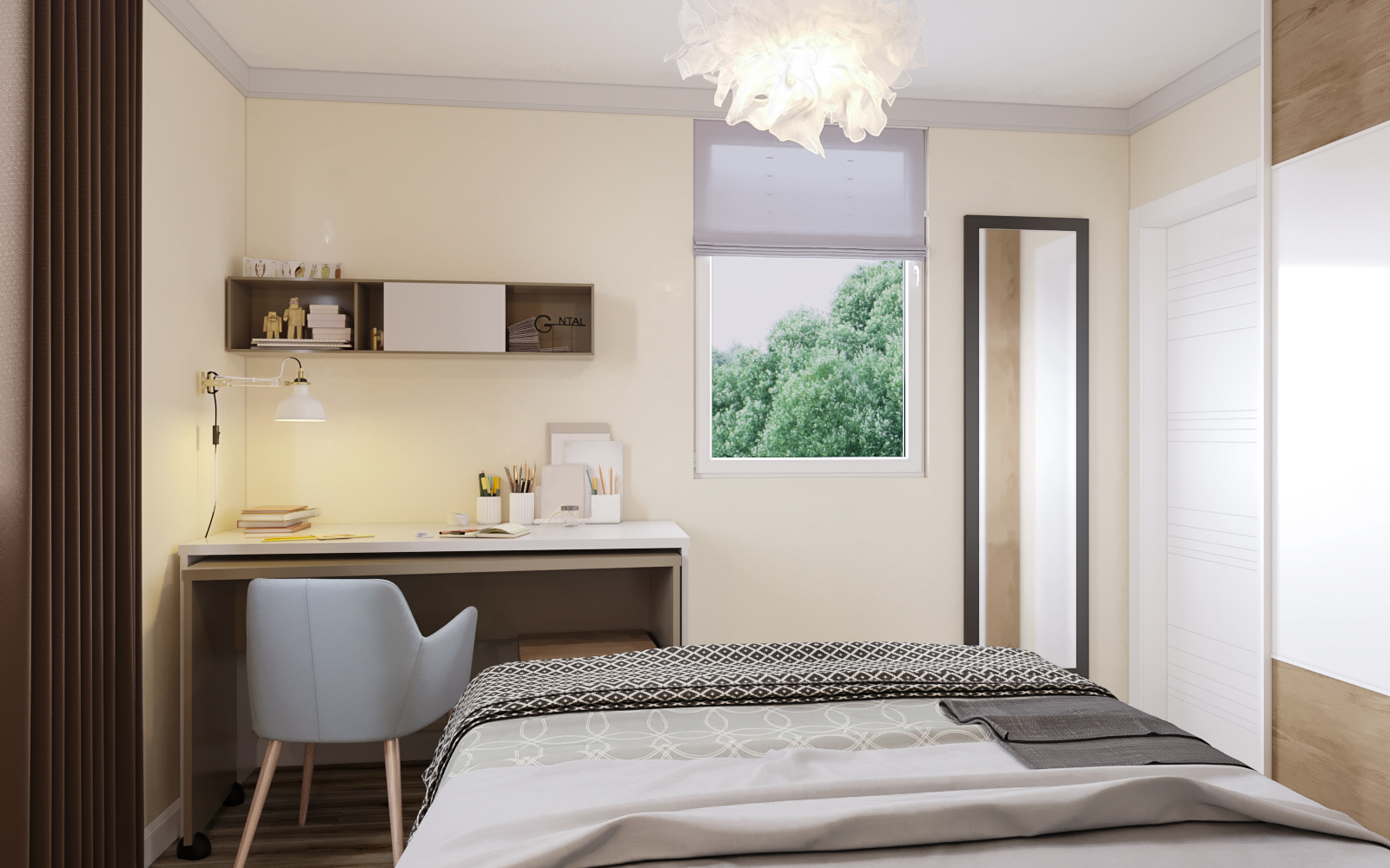 Bedroom number 2 in 3d max corona render image
