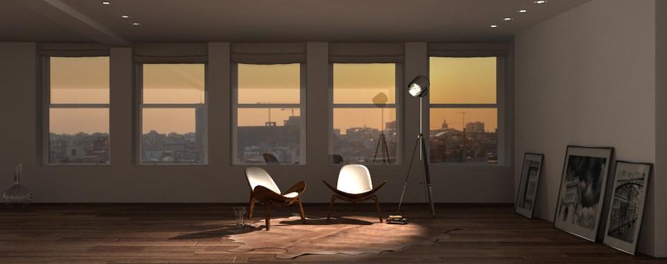 imagen de Puesta de sol en mi loft... en Cinema 4d Other