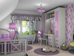 Nursery for a girl.