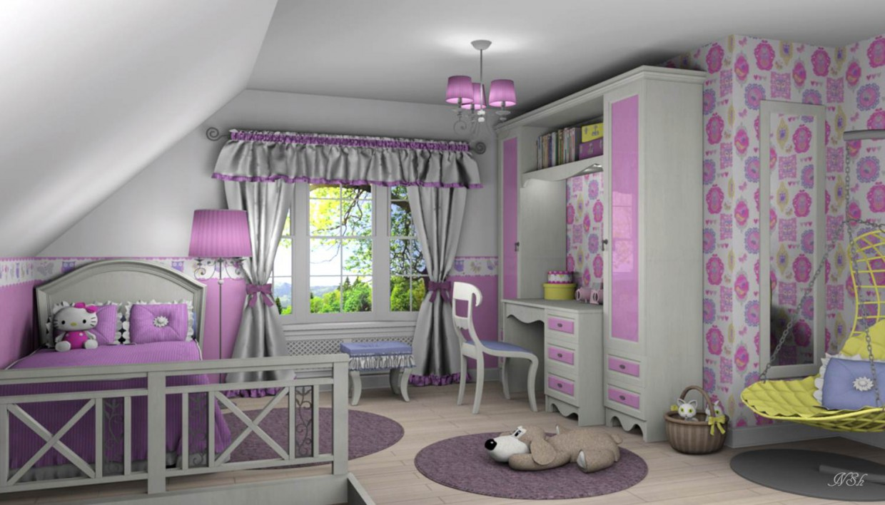3d visualization of the project in the Nursery for a girl. Other thing, render Other of Наталья Nansi