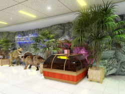 Quick Presentation of one of the foyer of the Dino-Park in the next mall. (Video attached).