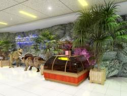 अगले मॉल में डिनो-पार्क के फ़ोयर में से एक की त्वरित प्रस्तुति। (वीडियो संलग्न)