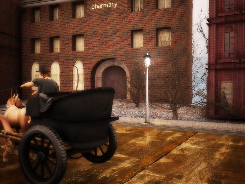 Night, street, lamp ... в Cinema 4d vray зображення