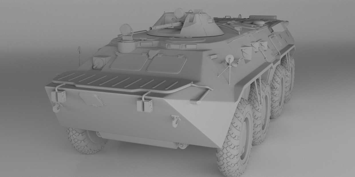 Work In Progress модель БТР-80 in 3d max vray 3.0 image