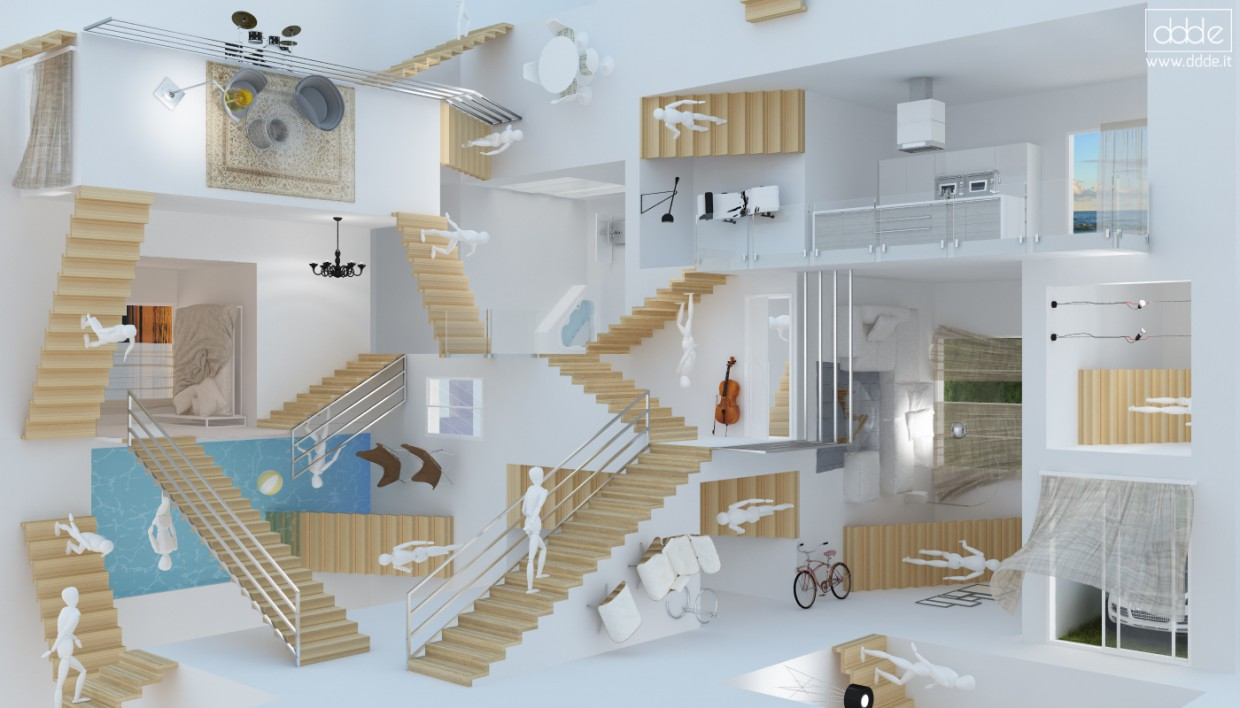 3d visualization of the project in the Escher - Relativity Cinema 4d, render Other of eloisa.conti