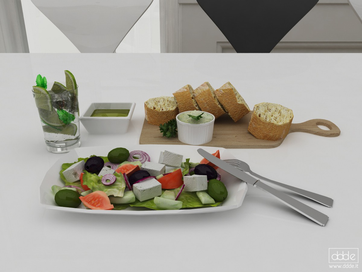 3d visualization of the project in the Mediterranean diet... Cinema 4d, render Other of eloisa.conti