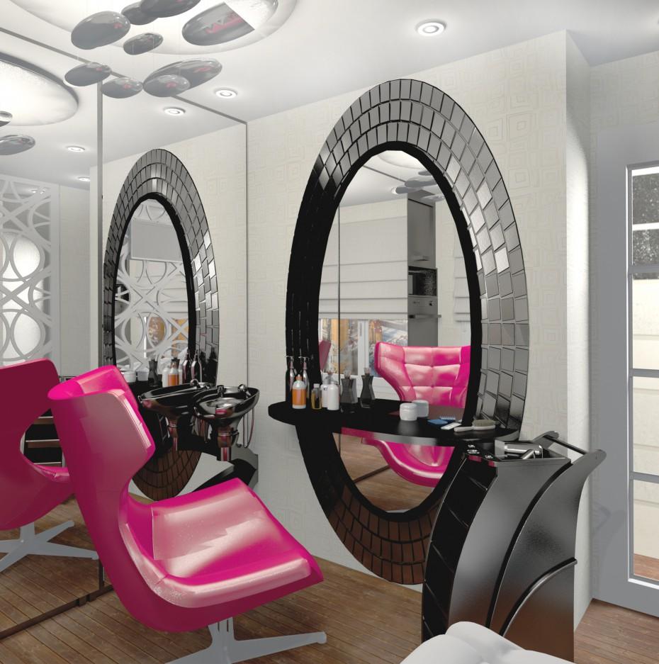 3d визуализация проекта Кухня-кабинет для парикмахера работающего на дому 3 в Другое, рендер Other от Helena Che