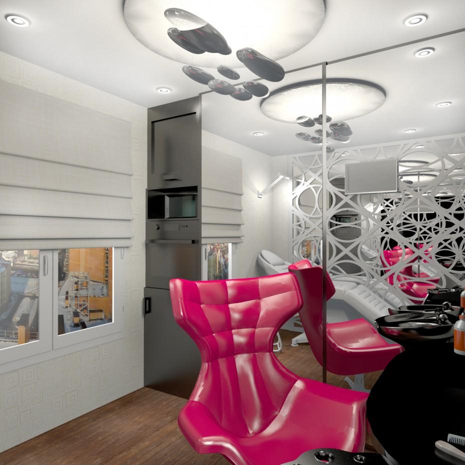 Kitchen Hair Salon : Kitchen cabinet for hair stylist working at home design