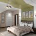 चेरनिगोव में अटारी में बेडरूम का आंतरिक डिजाइन