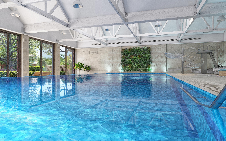 Swimming pool. in 3d max corona render image