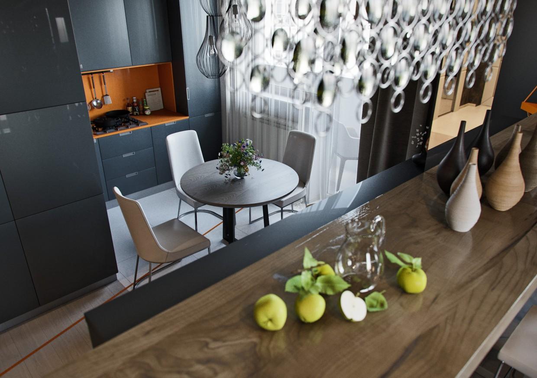 Studio appartments в 3d max corona render изображение