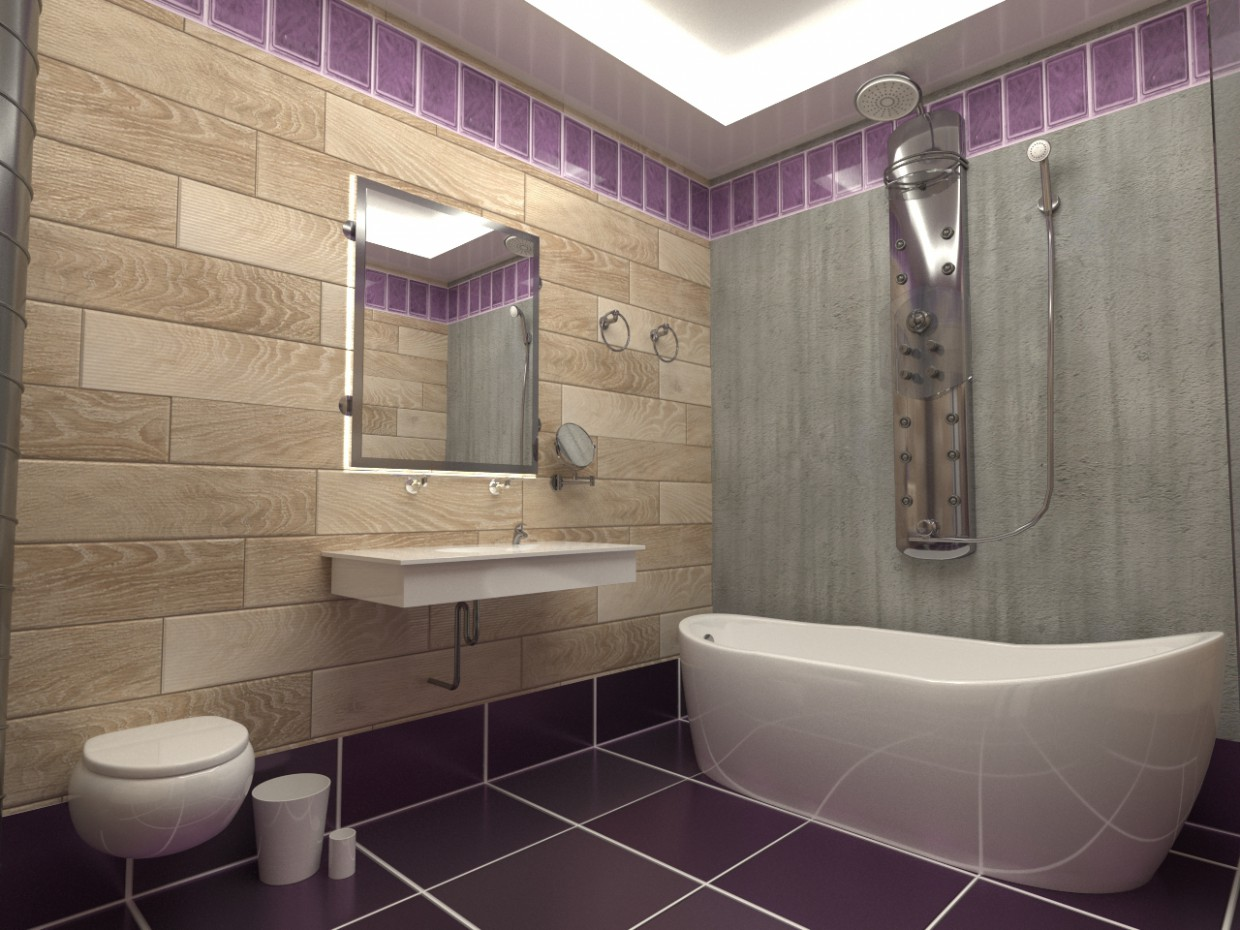 WC in 3d max corona render image