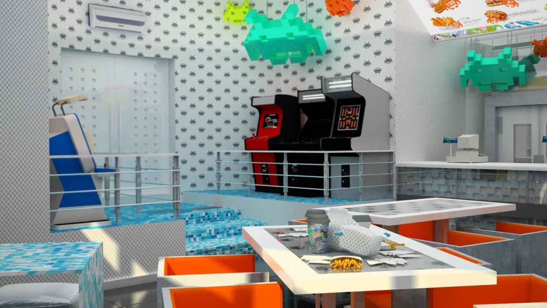 Ігрове кафе в 3d max vray зображення