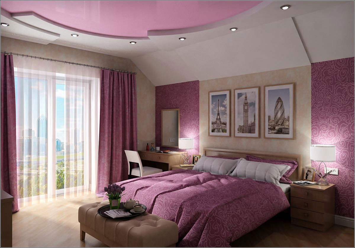 Interior design of the guest bedroom in Chernigov in 3d max vray 1.5 image