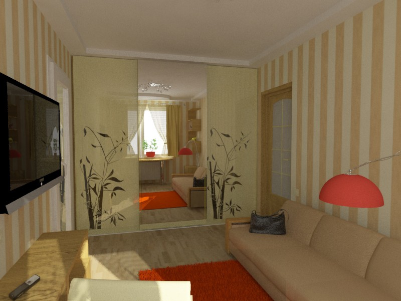 Room in apartment  in  3d max   vray  image