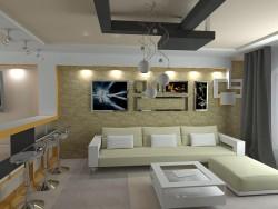 Sala de estar + salón comedor + cocina