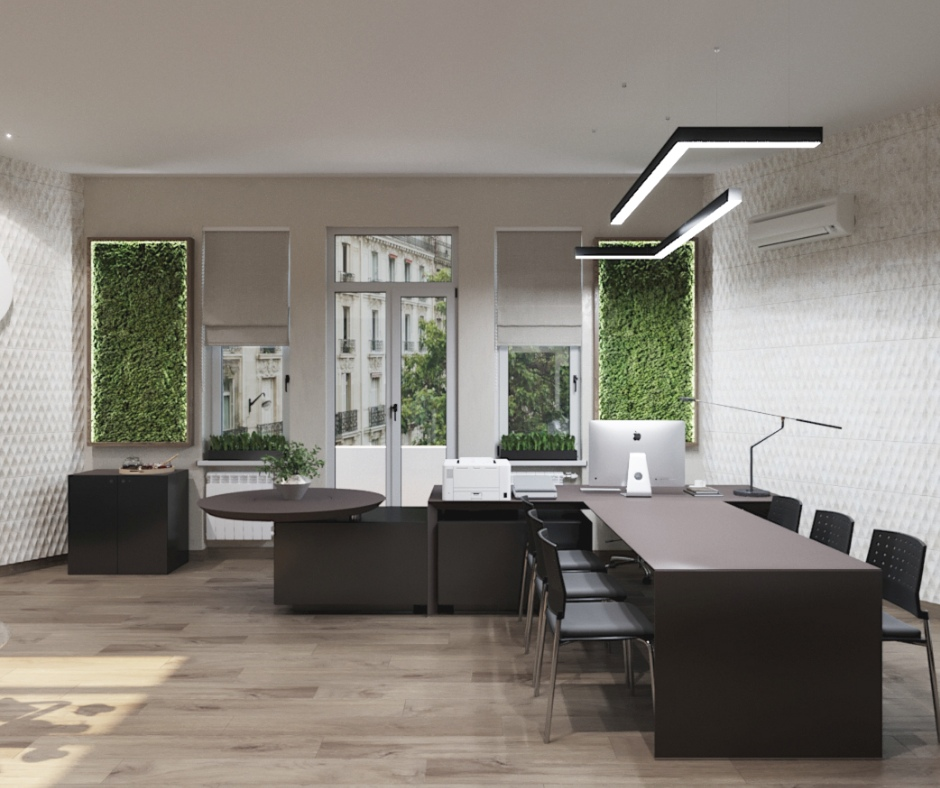 office in 3d max corona render image