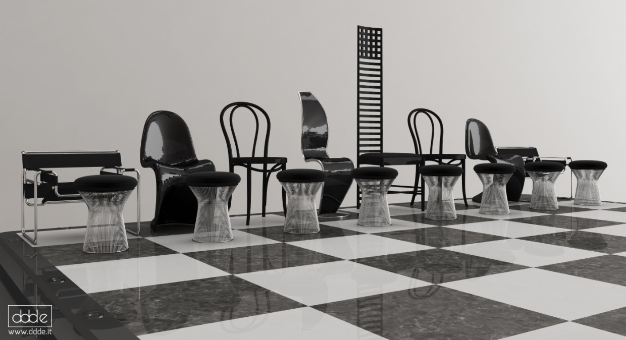 3d visualization of the project in the Chess/CHAIRS Cinema 4d, render Other of eloisa.conti