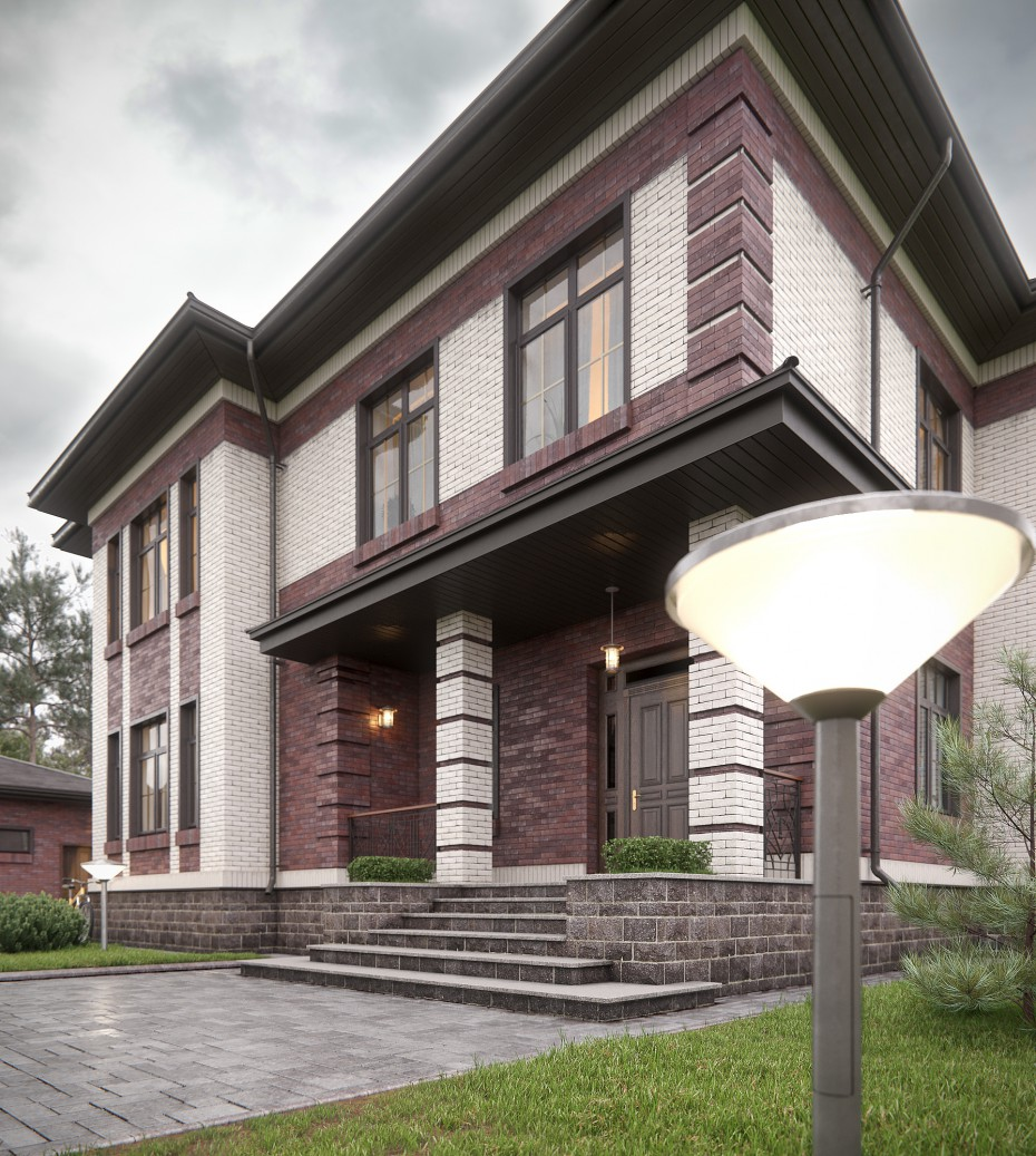 Mansion in 3d max vray 3.0 image