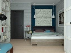 Bedroom for a young couple active sports