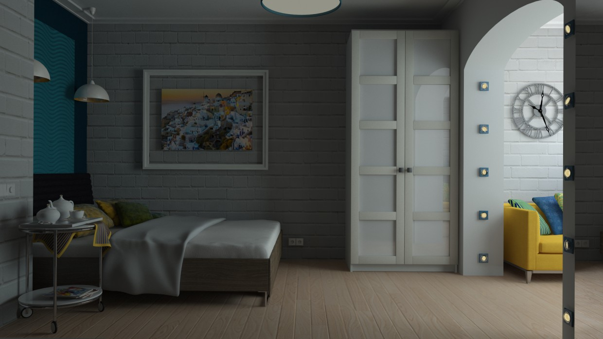 Bedroom.  in  3d max   vray  image