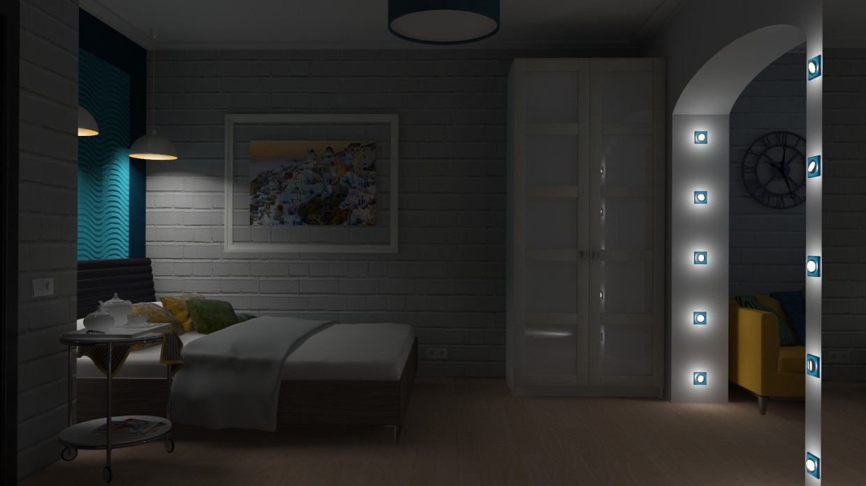 imagen de Dormitorio. en 3d max vray