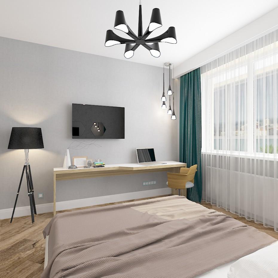 Chambre coucher dans le nouveau b timent design et for Chambre a coucher 3d