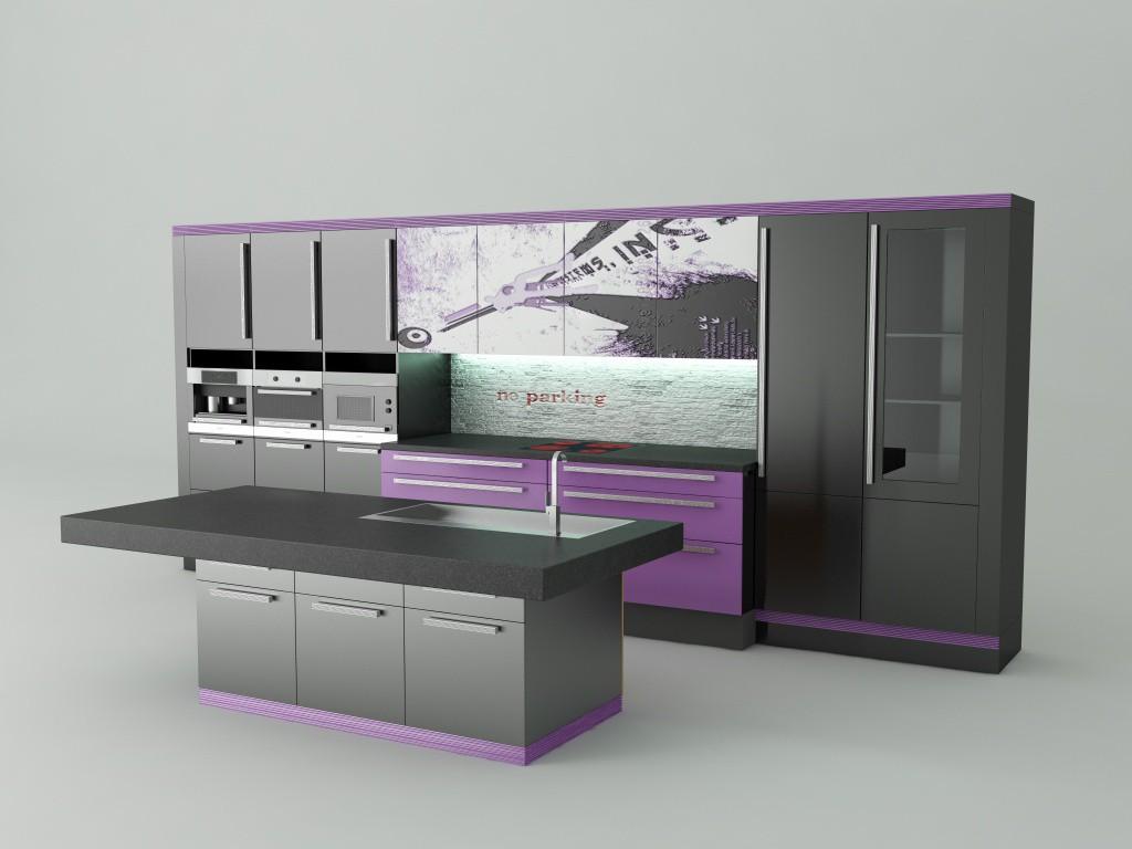 kitchen в 3d max vray изображение