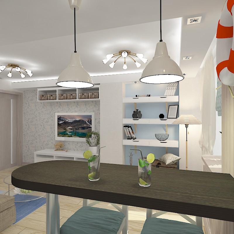 imagen de Comedor en el edificio nuevo en 3d max vray
