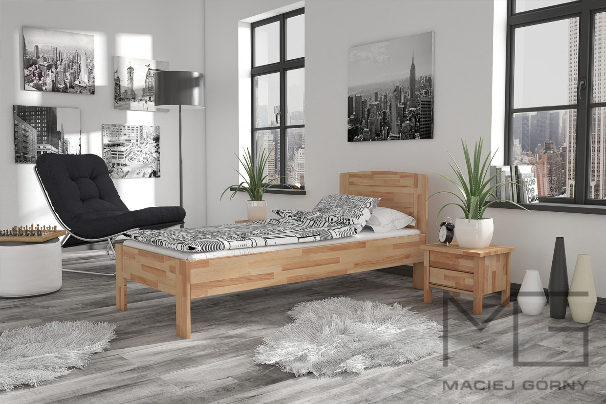 3d visualization of the project in the African Scandinavian Bedroom 3d max, render vray 3.0 of Maciej Górny