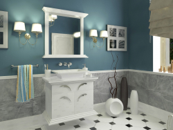 Design and visualization of the bathroom.